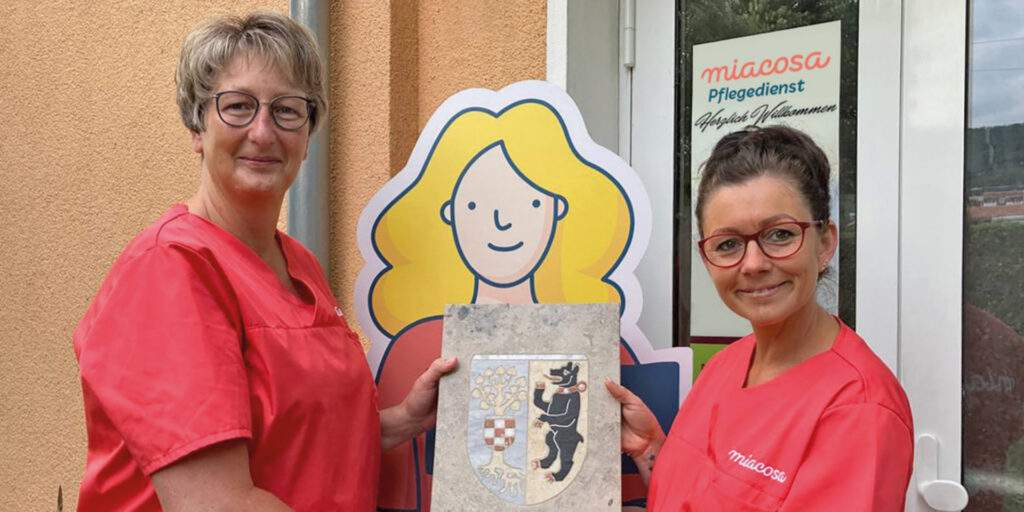 Staffelstabübergabe der Pflegedienstleiterinnen Steffi Tomczak und Anja Niemann